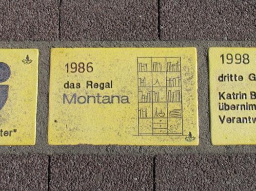 Fliese 14 - Karlsruher Sonnenfächer - Regal Montana aus dem Jahr 1986