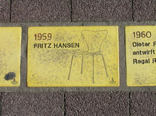 Fliese 93 - Karlsruher Sonnenfächer - Fritz Hansen