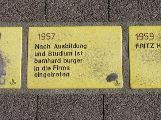 Fliese 115 - Karlsruher Sonnenfächer - 1957 - bernhard burger uebernimmt burger moebel