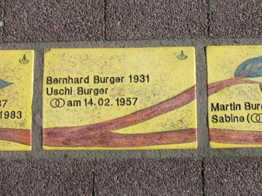 Fliese 260 - Karlsruher Sonnenfächer - Stammbaum Burger