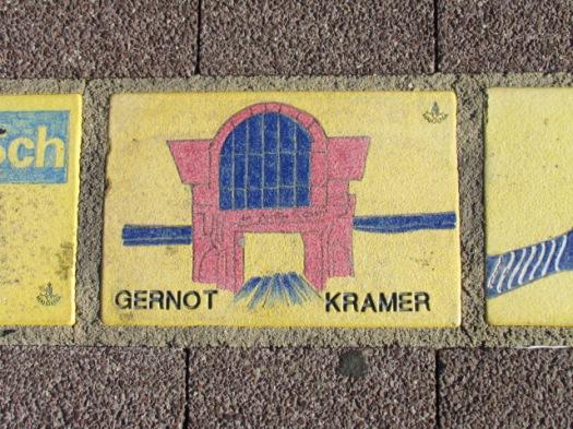 Fliese 2 - Karlsruher Sonnerfächer - Gernot Kramer