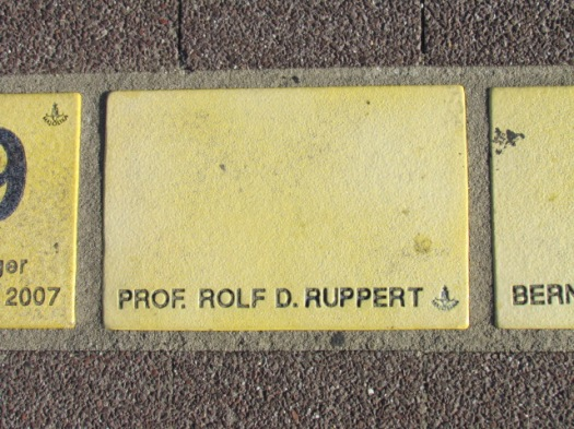 Fliese 1 - Karlsruher Sonnerfächer - Prof. Rolf D. Ruppert