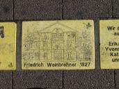 Fliese 9 - Karlsruhe Sonnenfächer - Friedrich Weinbrenner