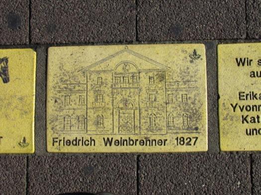 Fliese 9 - Karlsruher Sonnenfächer - Friedrich Weinbrenner