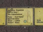 Sonnenfächer Karlsruhe - 50 Jahre Kegelclub Um oi Hoor