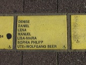 Sonnenfächer Karlsruhe - Denise - Daniel - Lena - Manuel - Lisa-Maria - Sophia - Philipp - Ute + Wolfgang Beer