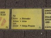 Sonnenfächer Karlsruhe - Für Anna + Benedict - Amica + Arne von Dieter + Helga Prause