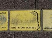 Fliese 6 Karlsruher Sonnenfächer - Kerstin und Markus