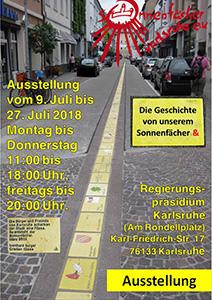 Plakat zur Ausstellung Die Geschichte des Sonnenfächers